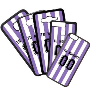Funda de Movil Carcasa de Moviles Fundas Carcasas de TPU Compatible con el móvil Huawei P8 Lite 2017 Modelo Camiseta de Fútbol Valladolid Con El Nombre y Numero Que Quieras