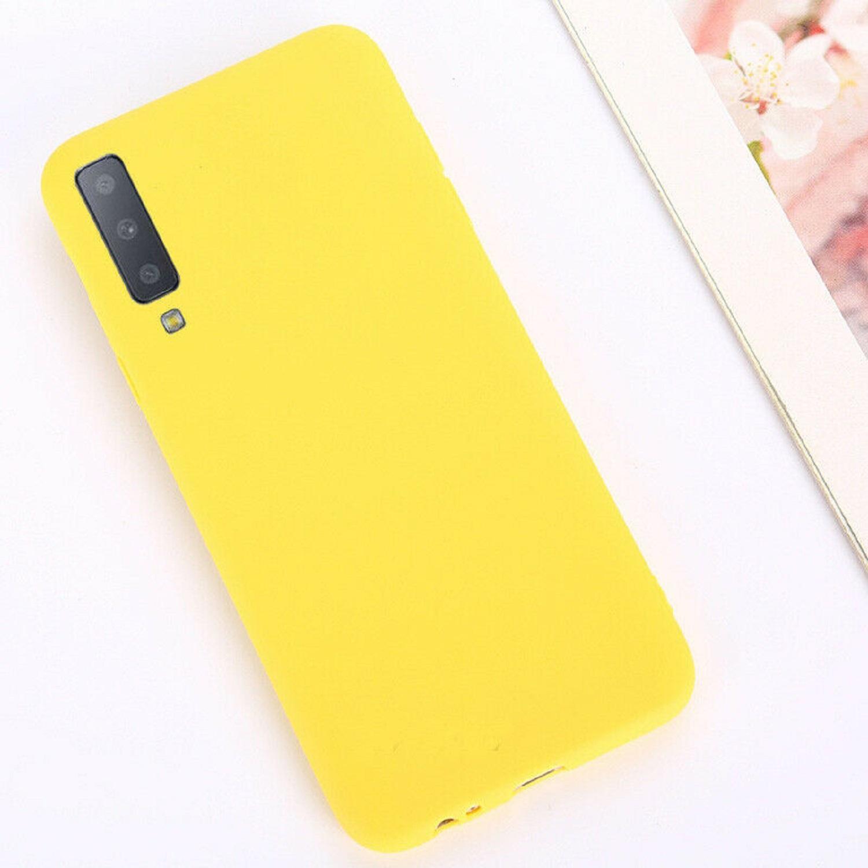 Funda Carcasa Case Samsung Galaxy Silicona Flexible Ultra Fina Tpu Suave Compatible con Samsung Galaxy  S8 Amarillo