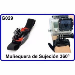 Muñequera de Sujeción 360 para Camara Deportiva Compatible Con GoPro HERO 1 2 3