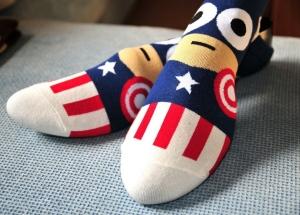 Calcetines Superheroes Moda Dibujo Heroes Niños Moda Unisex Ropa Capitan America