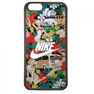 Carcasas de movil fundas de tpu compatible con iphone 7 plus nike flores