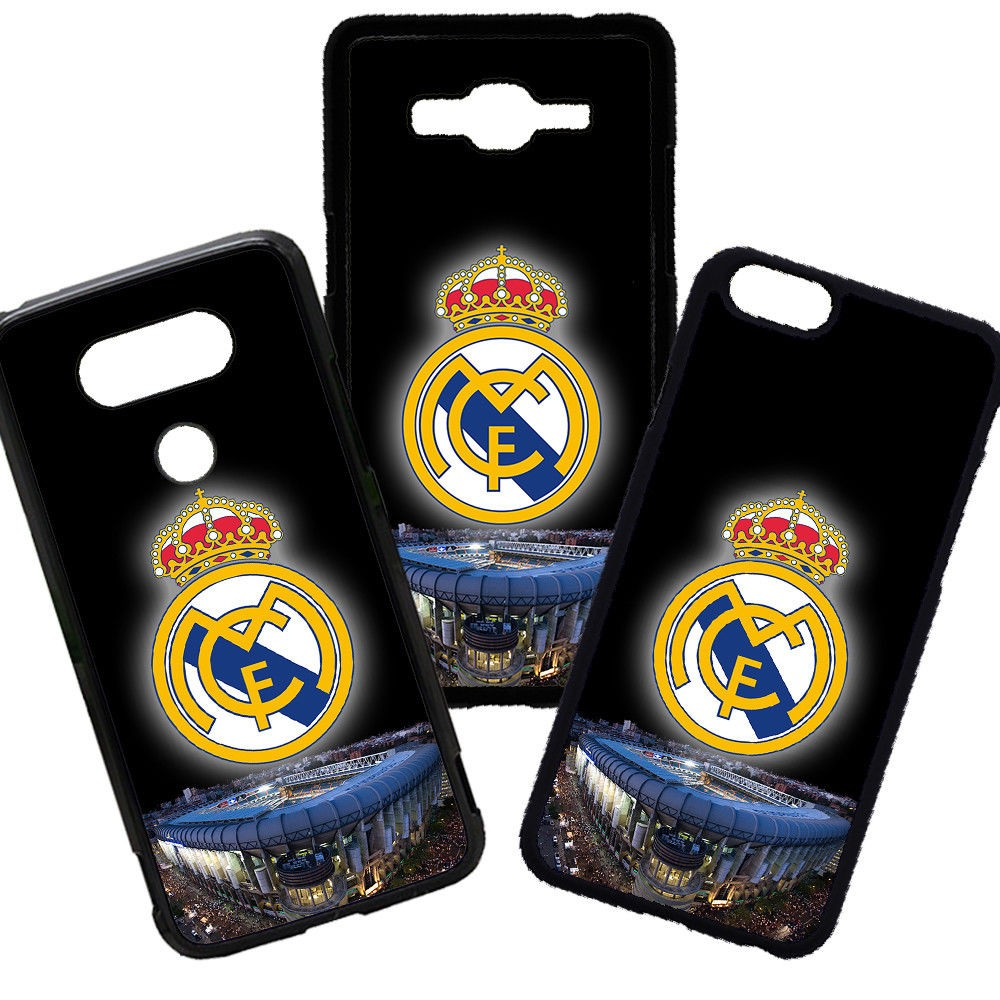 Carcasas de movil fundas de moviles de TPU compatible con Samsung Galaxy A7 2017  Real Madrid Futbol Escudo