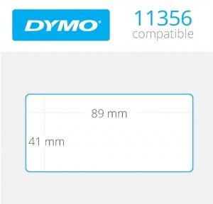1 x Rollo de etiqueta compatible con dymo modelo 11356 89x41 mm