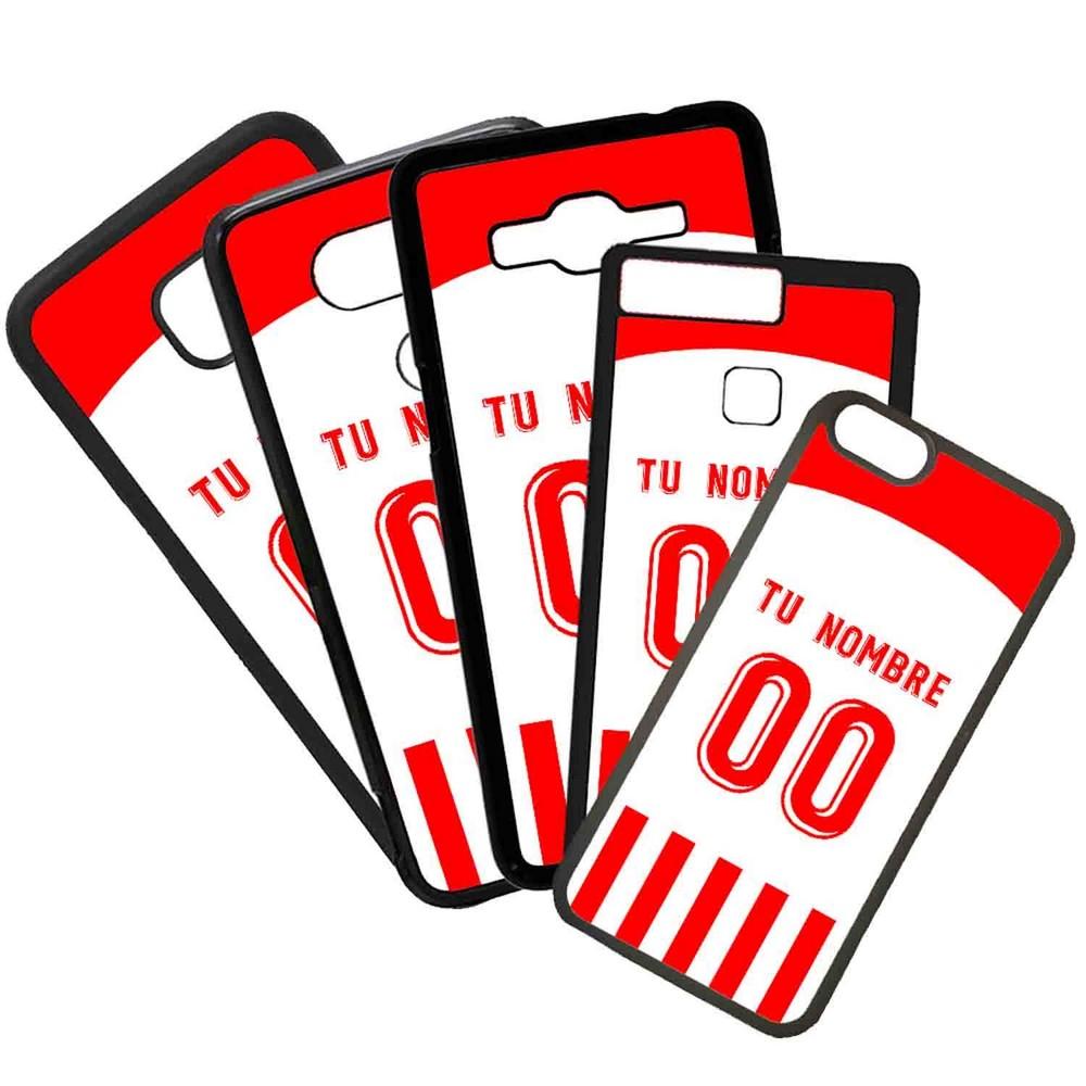 Funda de Movil Carcasa de Moviles Fundas Carcasas de TPU Compatible con el movil Huawei P20 Lite Modelo Camiseta de Futbol Almeria Con El Nombre y Numero Que Quieras