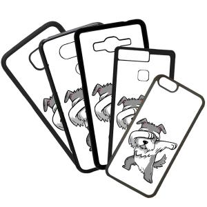 Funda de Movil Carcasa de Moviles Fundas Carcasas de TPU Compatible con el móvil Huawei P8 Lite 2017 Modelo Dibujo Perro Bailando Saludo