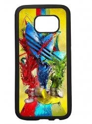 Funda carcasas móvil adidas pintura compatible con el móvil Samsung Galaxy S6