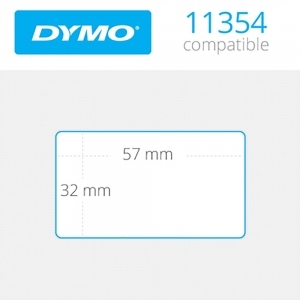 1 x Rollo de etiqueta compatible con dymo modelo 11354 57x32