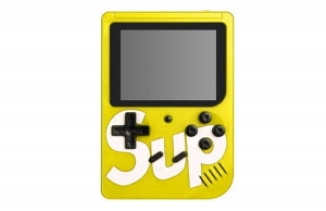 Mini Consola Maquina Retro Sup Game Box 400en1 Juegos Videojuegos Color Amarillo