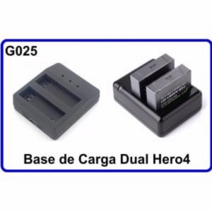 Cargador Doble Accesorios para Camara Deportiva Compatible Bateria GoPro Hero 4