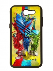 Funda carcasas móvil adidas pinturas compatible con movil Samsung Galaxy J3 2017