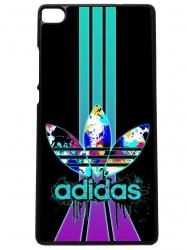 Funda carcasas móvil adidas lila compatible con el móvil huawei p8
