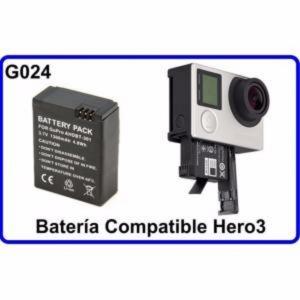 Bateria  Accesorios para Camara Deportiva Compatible GoPro Hero3/3+