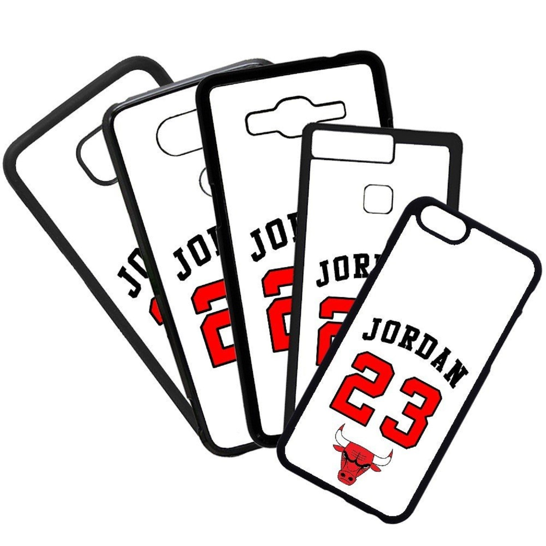 Fundas De Móviles Carcasas De Móvil De TPU Modelo Jordan Color Blanco 23 Marcas Moda Baloncesto