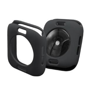 Protector Silicona Funda Compatible Con Apple Watch 38-40 MM Color Negro