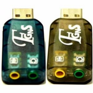 Adaptador Tarjeta de Sonido USB 2.0 Card 5.1 Mini Jack Audio Sound Virtual Dj