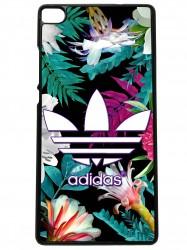 Funda carcasas móvil adidas flores compatible con el móvil huawei p8