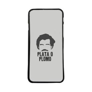 Fundas De Móviles Carcasas De Móvil De TPU Narcos Pablo Escobar Plata O Plomo Fondo Gris