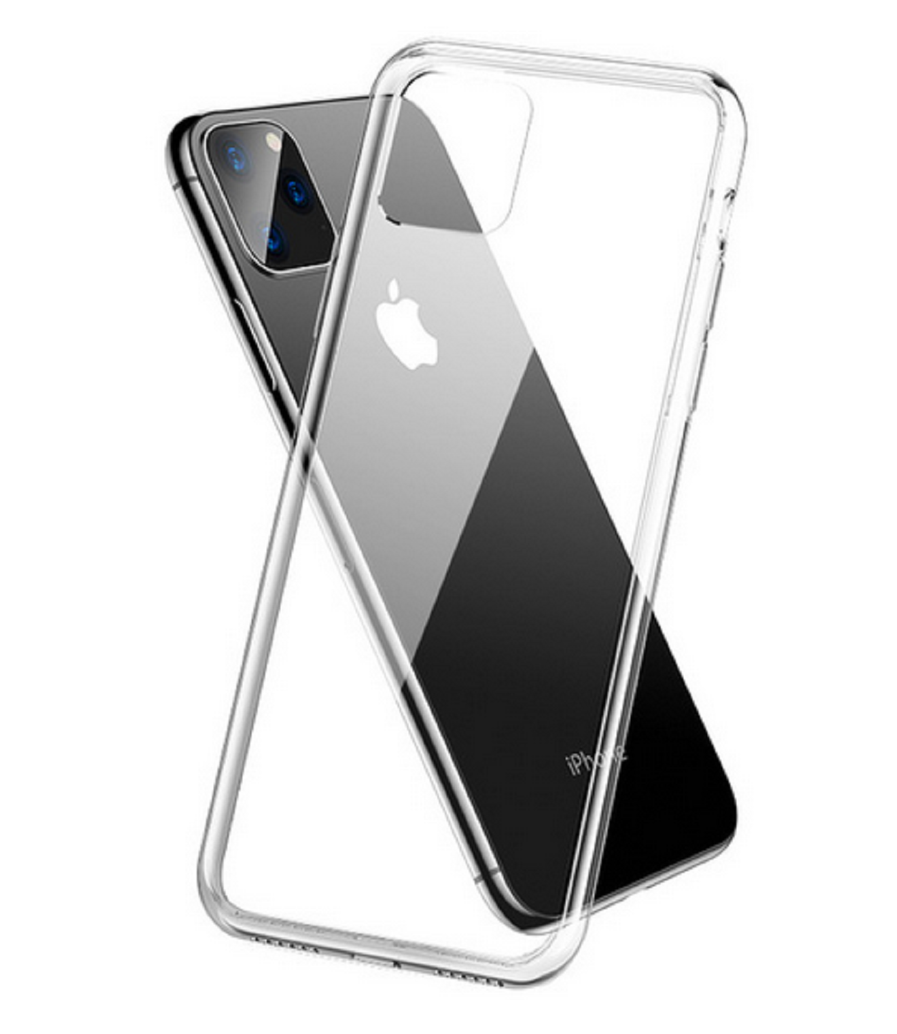 Funda Suave Silicona Gel TPU Carcasa Case PARA iPhone 11 Moda Color Transparente