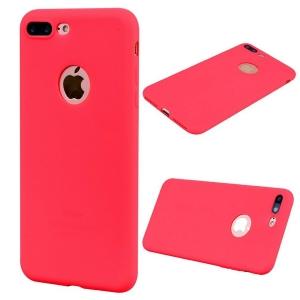 Funda Carcasa Case Iphone Silicona Flexible Ultra Fina Tpu Suave Compatible con iphone 6/ 6S  Rojo Agujero