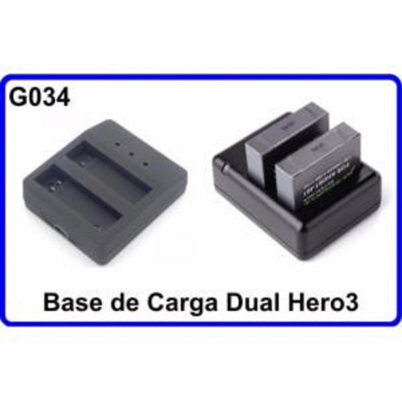 Base de Carga Dual para Camara Deportiva Compatible con GoPro Hero 3 Accesorios