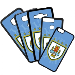Carcasas de movil fundas de móviles de TPU compatible con Huawei P8 lite 2017 selección de fútbol uruguay escudo