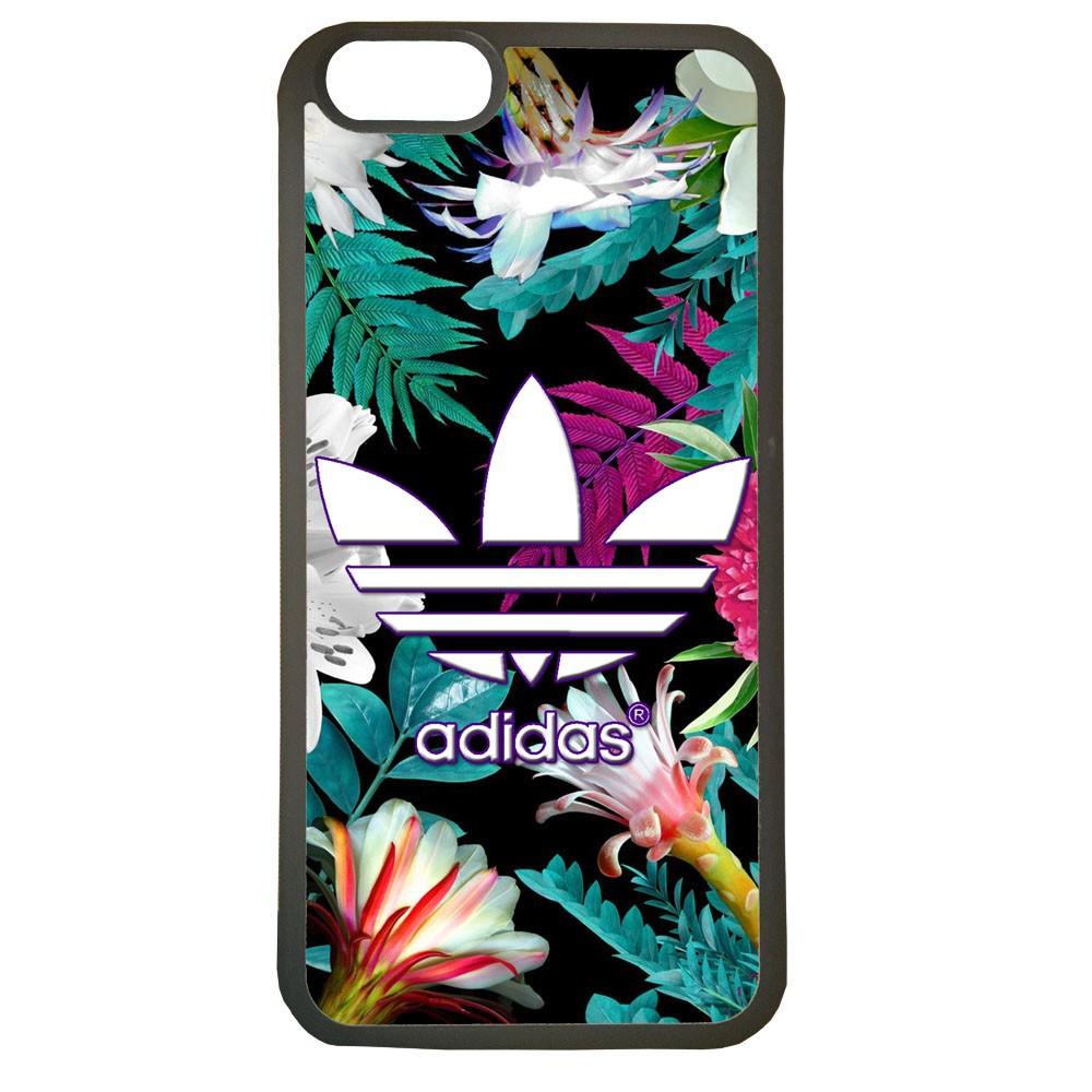 Funda carcasas móvil adidas flores compatible con el móvil iphone 6 plus