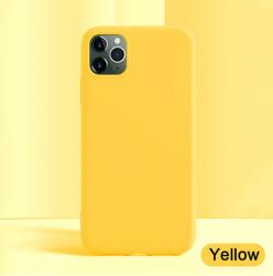 Funda Suave Silicona Gel TPU Carcasa Case PARA iPhone 11 Pro Moda Color Amarillo