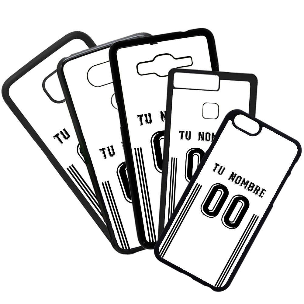 Carcasas de movil fundas de moviles de TPU compatible con Samsung Galaxy J5 2016 Modelo Camiseta de Fútbol Valencia Club de Fútbol con tu Nombre y Numero