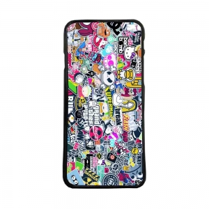 Carcasas de moviles funda de movil tpu compatible con iphone 7 stickers logos
