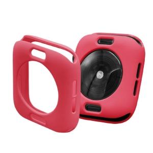 Protector Silicona Funda Compatible Con Apple Watch 38-40 MM Color Rojo