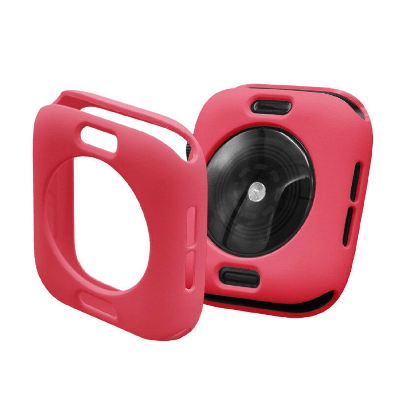 Protector Silicona Funda Compatible Con Apple Watch 42-44 MM Color Rojo