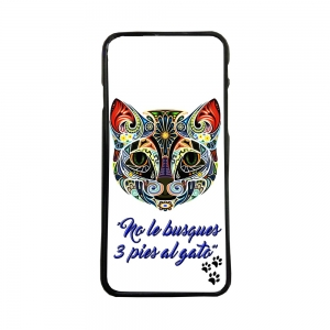 funda de movil carcasas de tpu compatible con iphone 8 plus modelo 3 pies gato