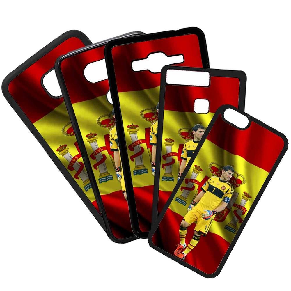 Funda de Movil Carcasa de Moviles Fundas Carcasas de TPU Compatible con el movil Iphone 7 Plus Modelo Iker Casillas España Seleccion Futbol