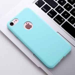 Funda Carcasa Case Iphone Silicona Flexible Ultra Fina Tpu Suave Compatible con iphone 6 / 6S  Azul Claro Agujero