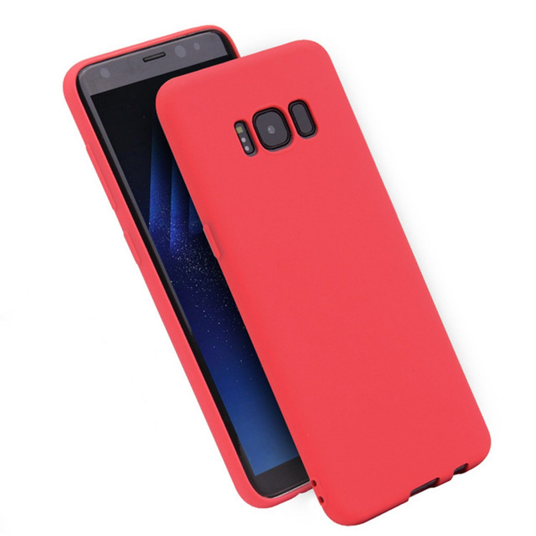 Funda Carcasa Case Samsung Galaxy Silicona Flexible Ultra Fina Tpu Suave Compatible con Samsung Galaxy  S9  Rojo