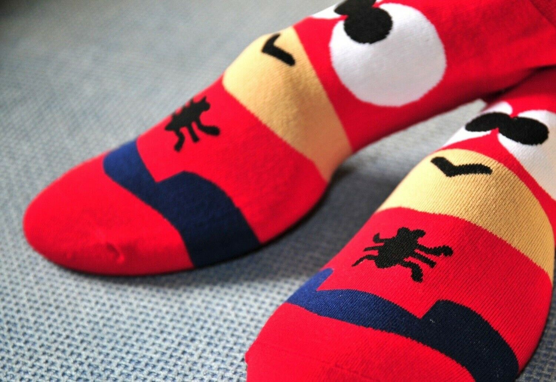 Calcetines Superheroes Moda Dibujos Heroes Niños Adultos Unisex Ropa Spiderman