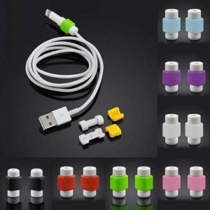 5x Protector Cable Cargador USB Iphone Universal Android Moda Colores Aleatorio