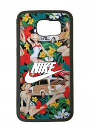 carcasa para el movil funda compatible con samsung galaxy s6 edge nike flores