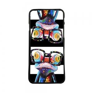 Funda de Movil Carcasas de Moviles de tpu diseño rana con gafas