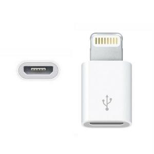 ADAPTADOR CABLE MICRO USB A iPHONE  Mini Blanco Compatible con IPHONE 7 8 X