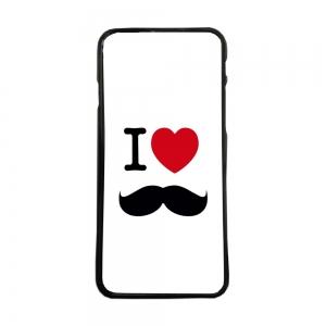 Funda de movil de tpu carcasas compatible con Huawei P8 Lite 2017 i love bigote