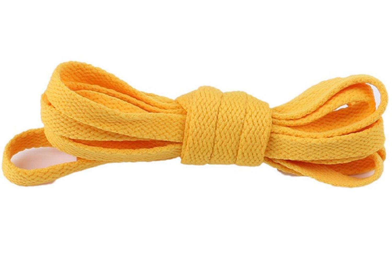 2x Cordones De Zapatillas Par Colores Calzado Ropa Moda Deporte Cordon Amarillo