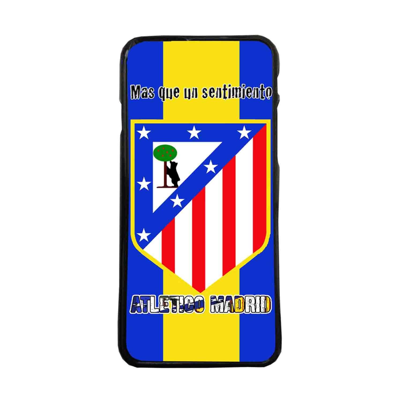 Fundas De Móviles Carcasas De Móvil De TPU Escudo Atletico De Madrid Fondo Azul Amarillo Mas Que Un sentimiento Fútbol