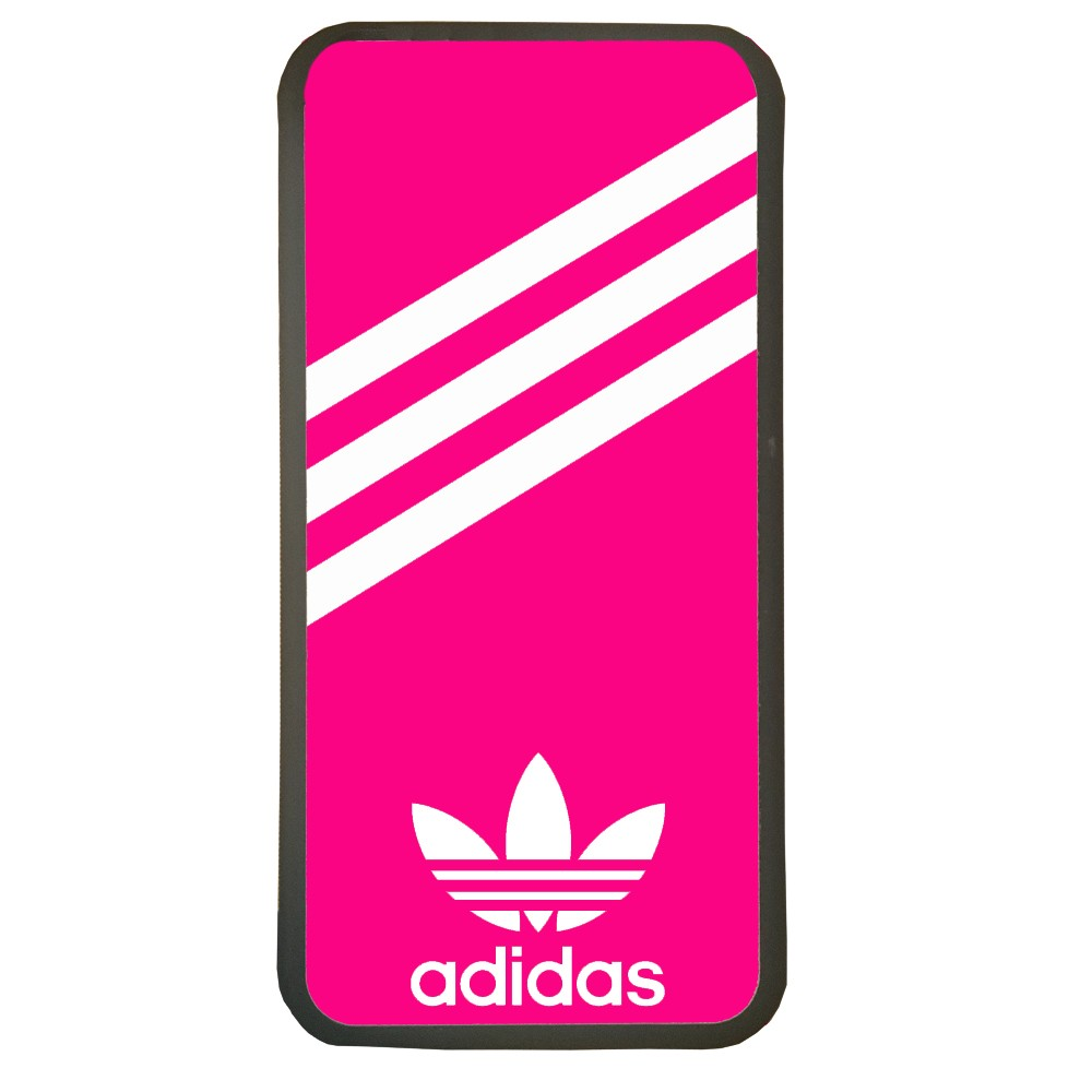 Carcasas de movil fundas de móviles de TPU compatible con Iphone XS Max marca logotipo adidas color fucsia