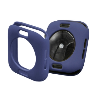Protector Silicona Funda Compatible Con Apple Watch 38-40 MM Color Azul Oscuro