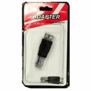 Adaptador USB/RJ45 Macho (12und) AD034