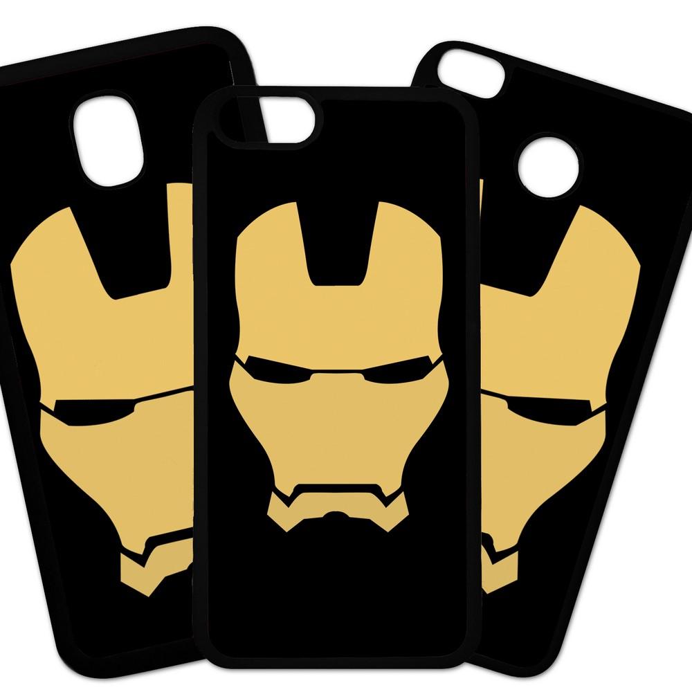 Carcasas De Móvil Fundas De Móviles De TPU Modelo Los Vengadores, peliculas accion superheroes,  Ironman mascara fondo rojo