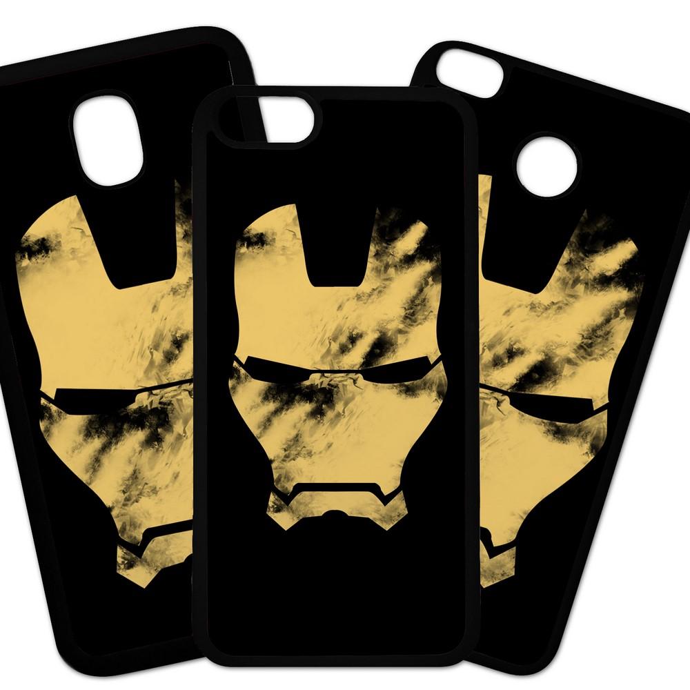 Carcasas De Móvil Fundas De Móviles De TPU Modelo Los Vengadores, peliculas accion superheroes,  Ironman mascara sucia fondo negro