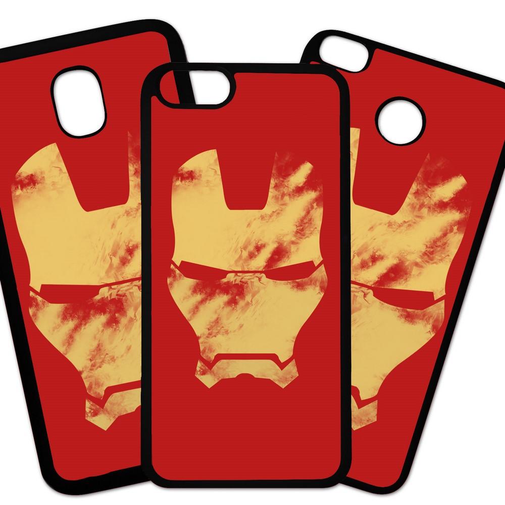 Carcasas De Móvil Fundas De Móviles De TPU Modelo Los Vengadores, peliculas accion superheroes, Ironman mascara sucia fondo rojo