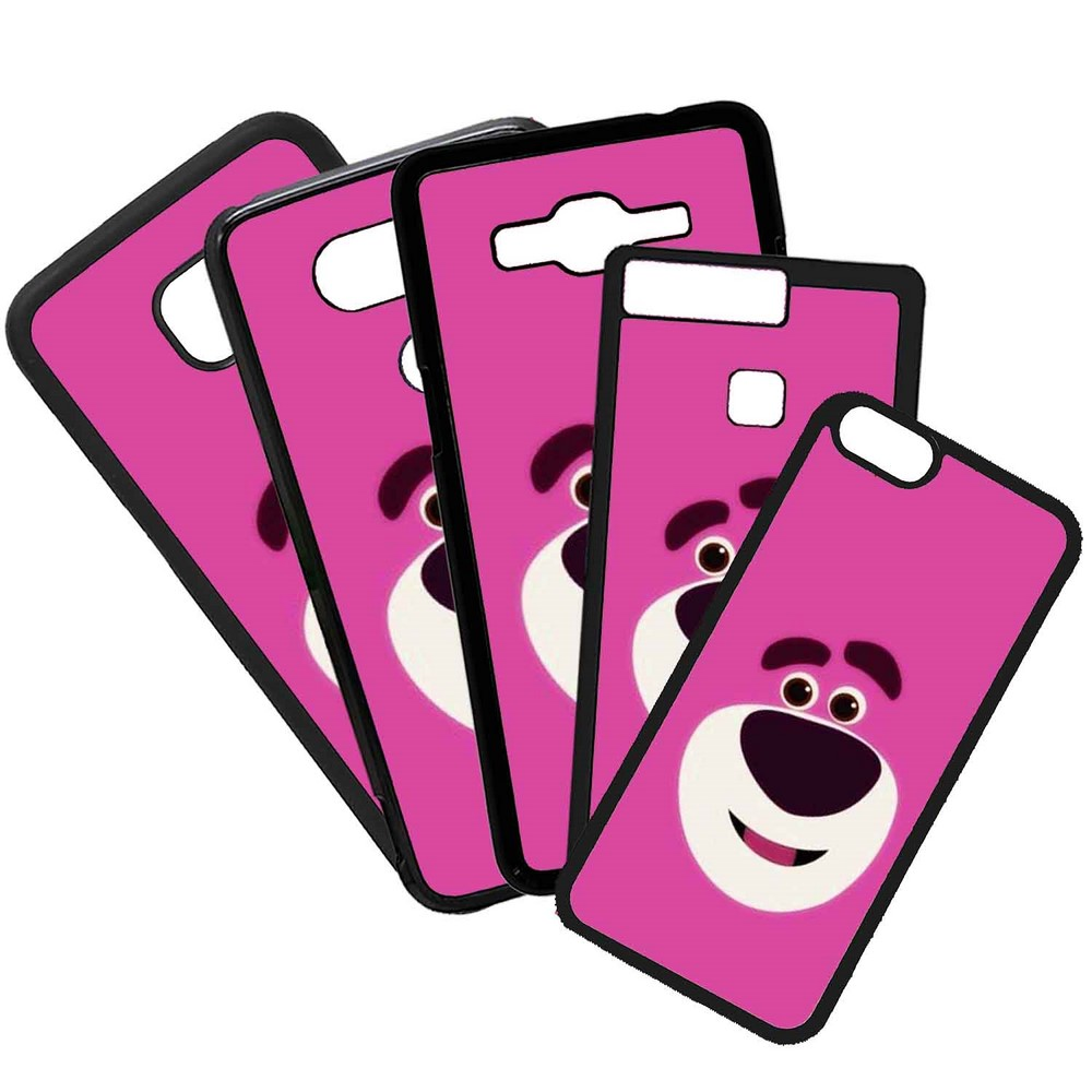 Carcasas De Móvil Fundas De Móviles De TPU Modelo Dibujo cara oso rosa